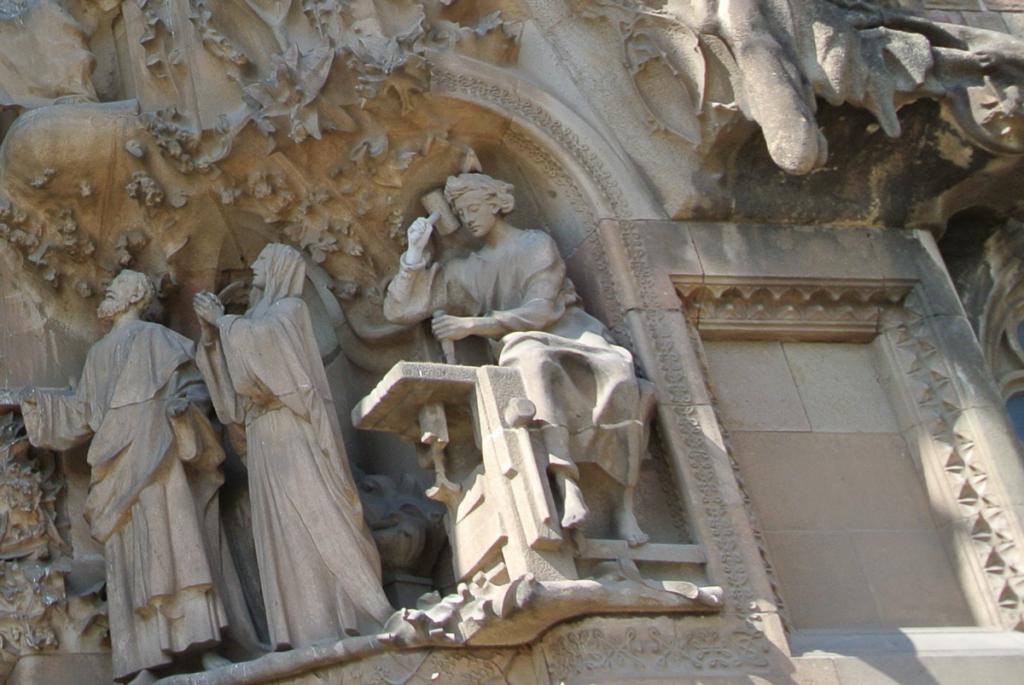 サグラダ・ファミリア働くイエスの写真