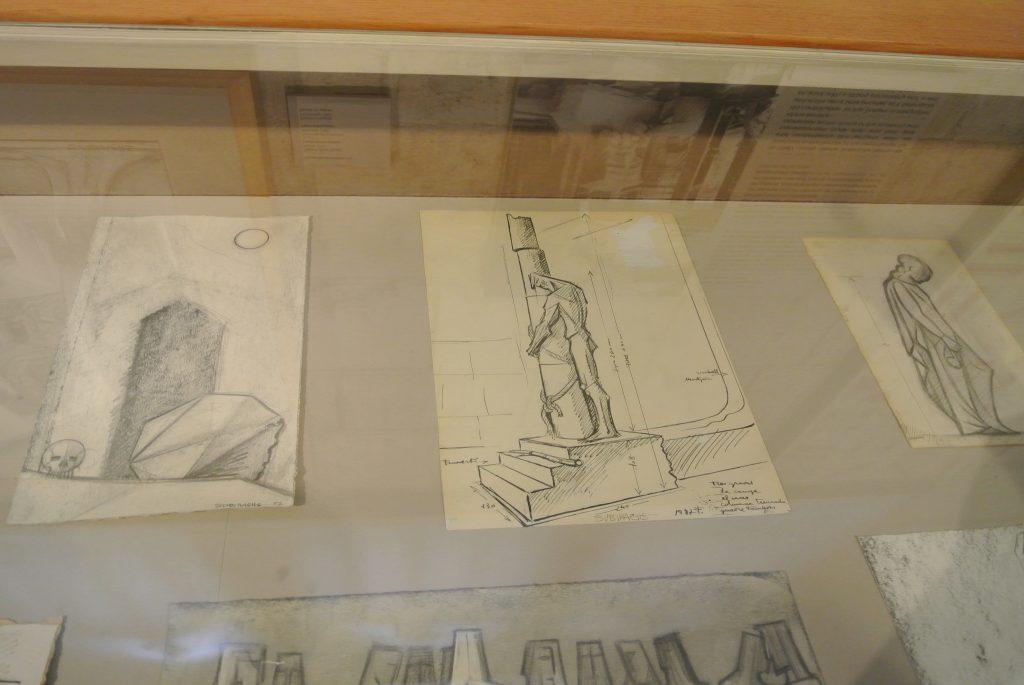 受難のファサードの彫刻の下絵の写真