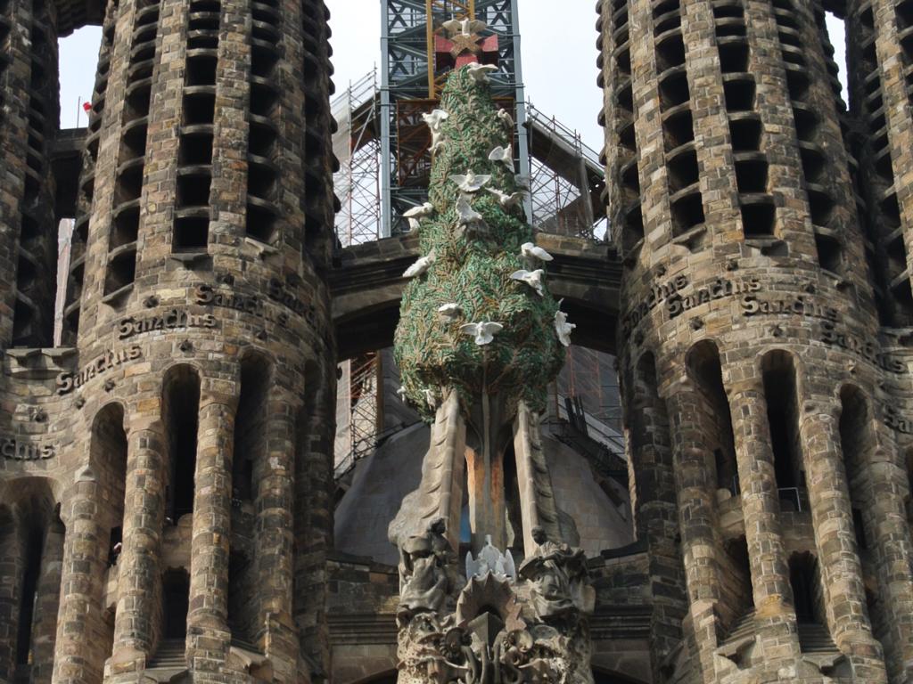 サグラダ・ファミリア生命の木の写真