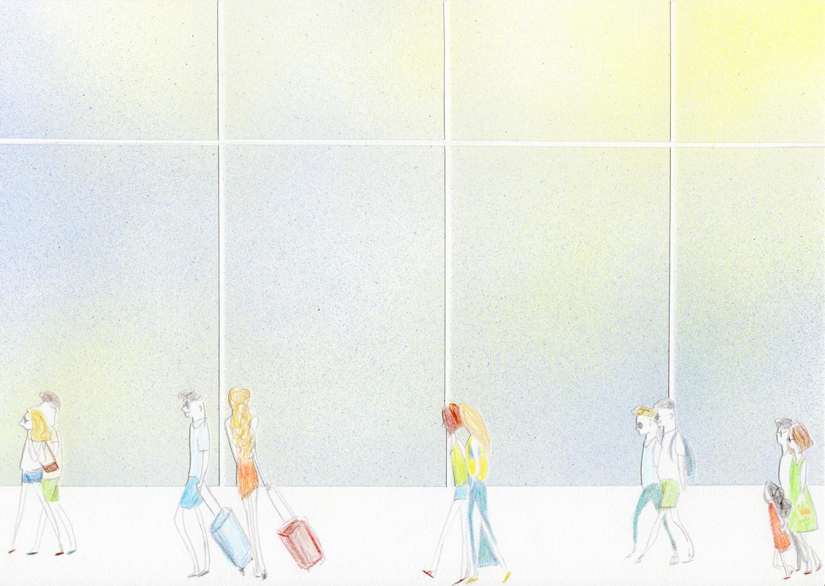 バルセロナ=エル・プラット空港のイラスト
