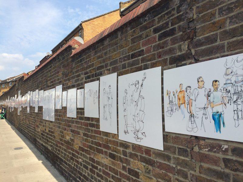 ポートベロー・マーケットのストリートアート