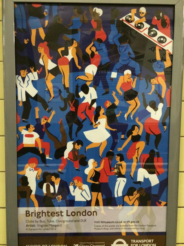 ロンドンのメトロのポスター