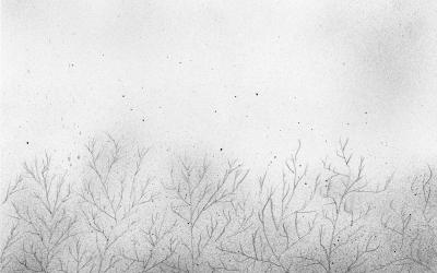 冬の空の絵