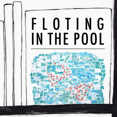 古書店のイラスト(Floating in the pool)