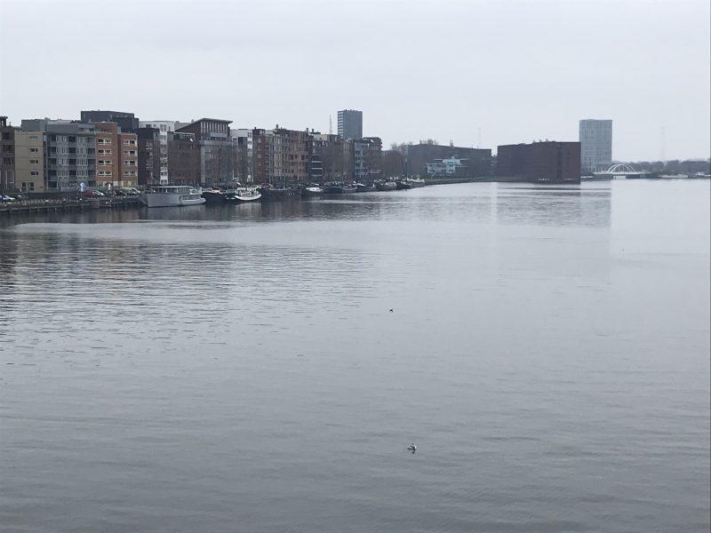 霧が濃いアムステルダム